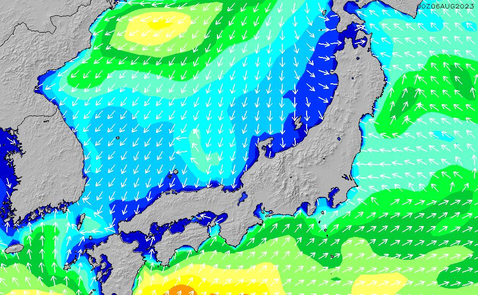 2020/2/17(月)21:00波高チャート