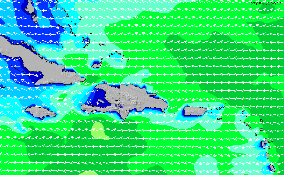 South Dominican Republic Regional Wave Height Chart | SURFLINE.COM