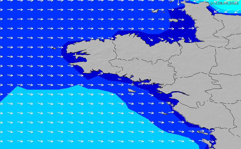 Map Of Northwest France.Northwest France Local Wave Height Chart Surfline Com