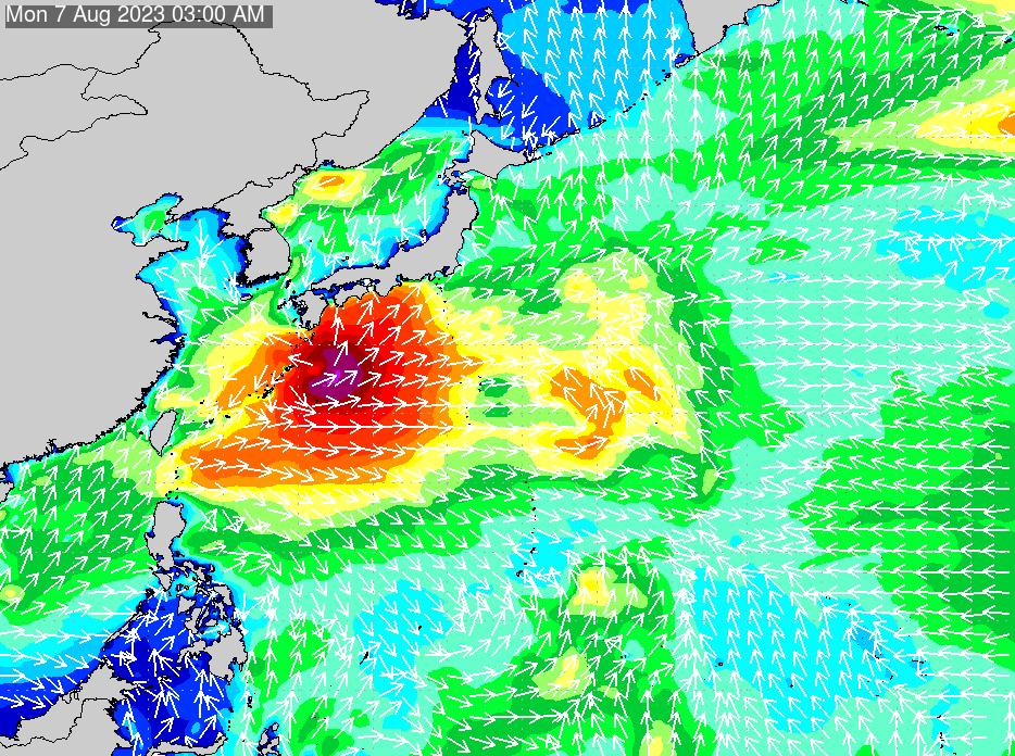 2018年7月17日(火)18:00の波浪画像