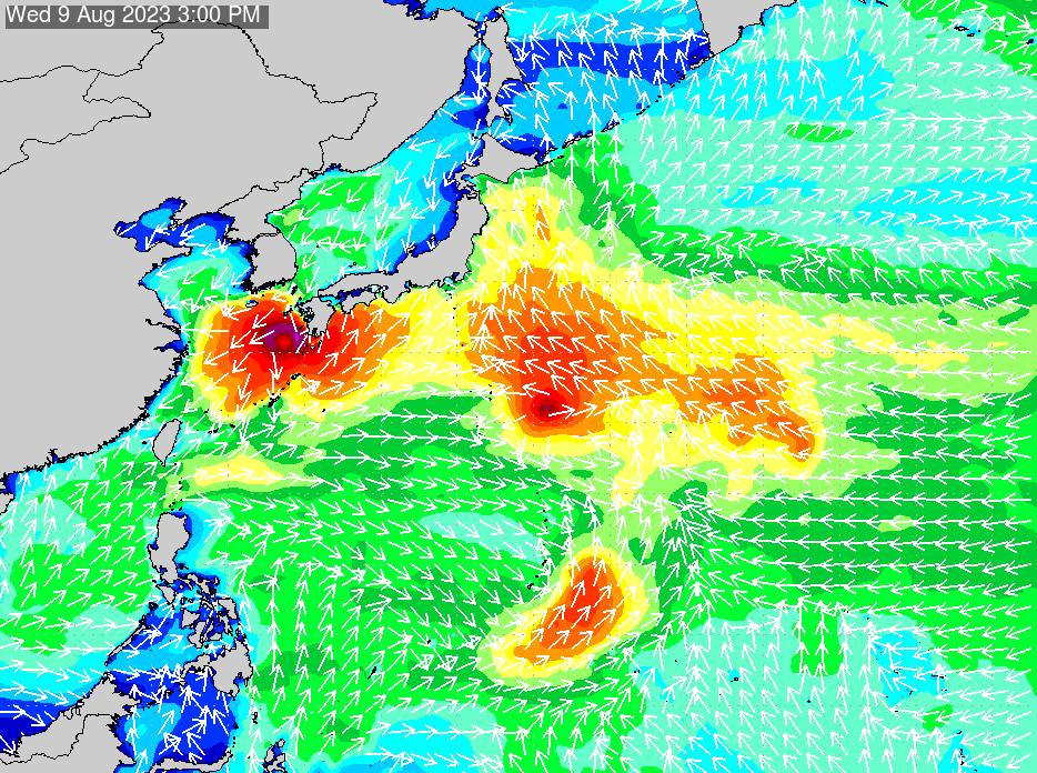 2018年7月18日(水)0:00の波浪画像