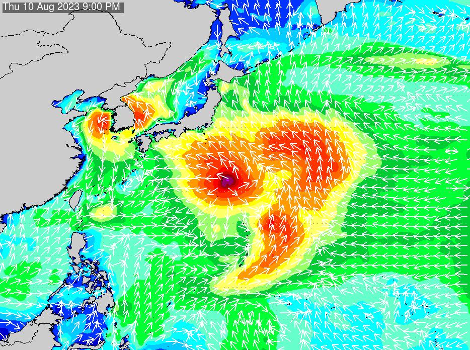 2018年7月18日(水)6:00の波浪画像