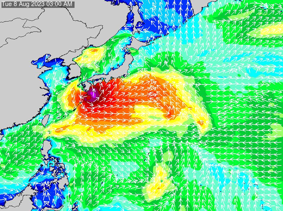 2017年4月2日(日)15:00の波浪画像