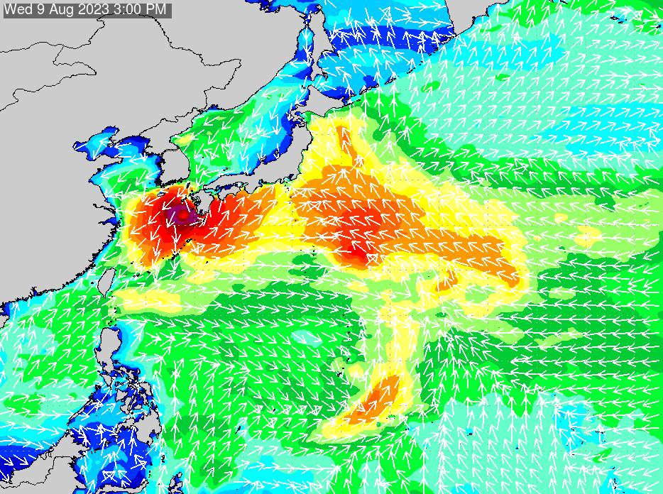 2018年7月18日(水)18:00の波浪画像