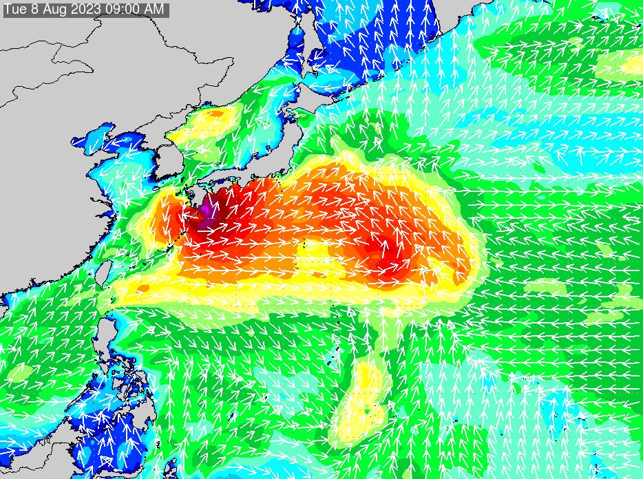 2018年7月19日(木)0:00の波浪画像