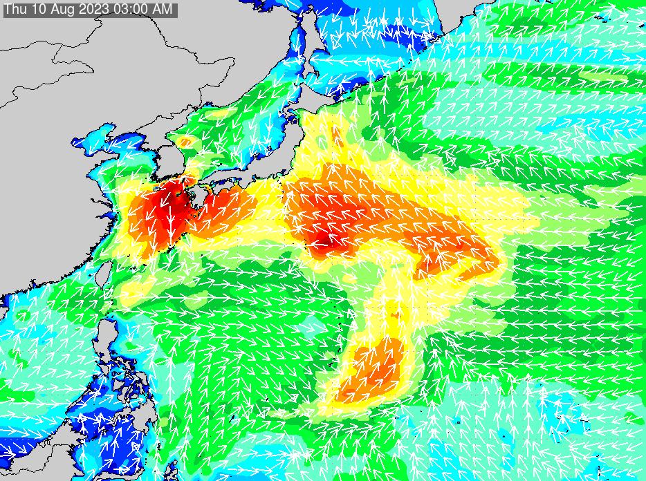 2018年7月19日(木)6:00の波浪画像
