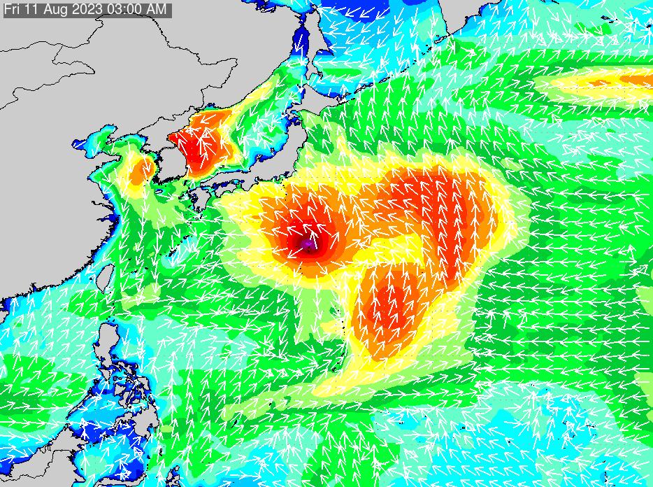 2018年7月19日(木)12:00の波浪画像