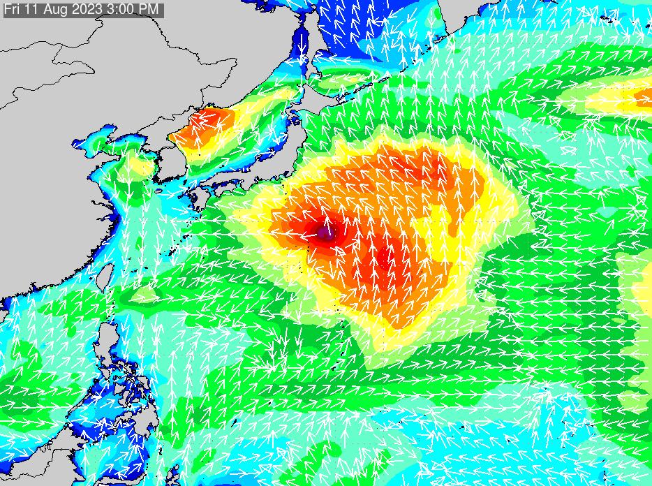 2018年7月19日(木)18:00の波浪画像