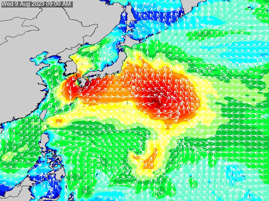 2017年2月28日(火)0:00の波浪画像