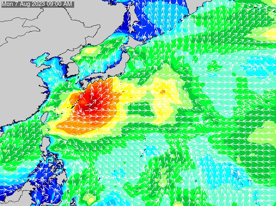 2018年7月15日(日)18:00の波浪画像