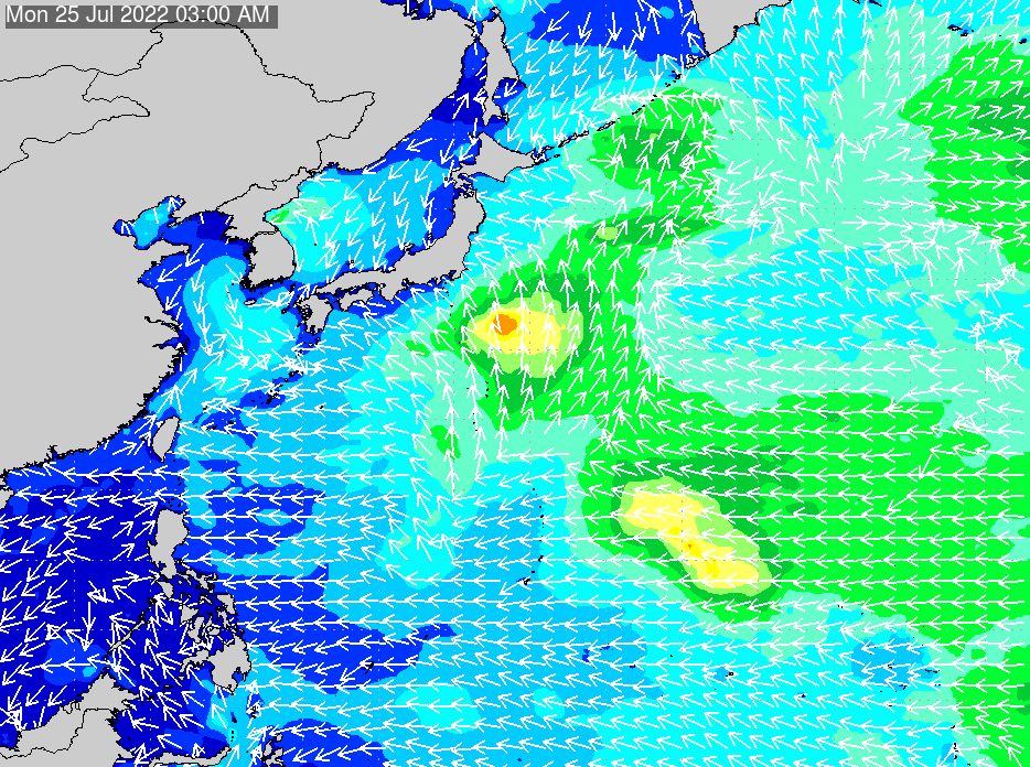 2018年7月20日(金)6:00の波浪画像