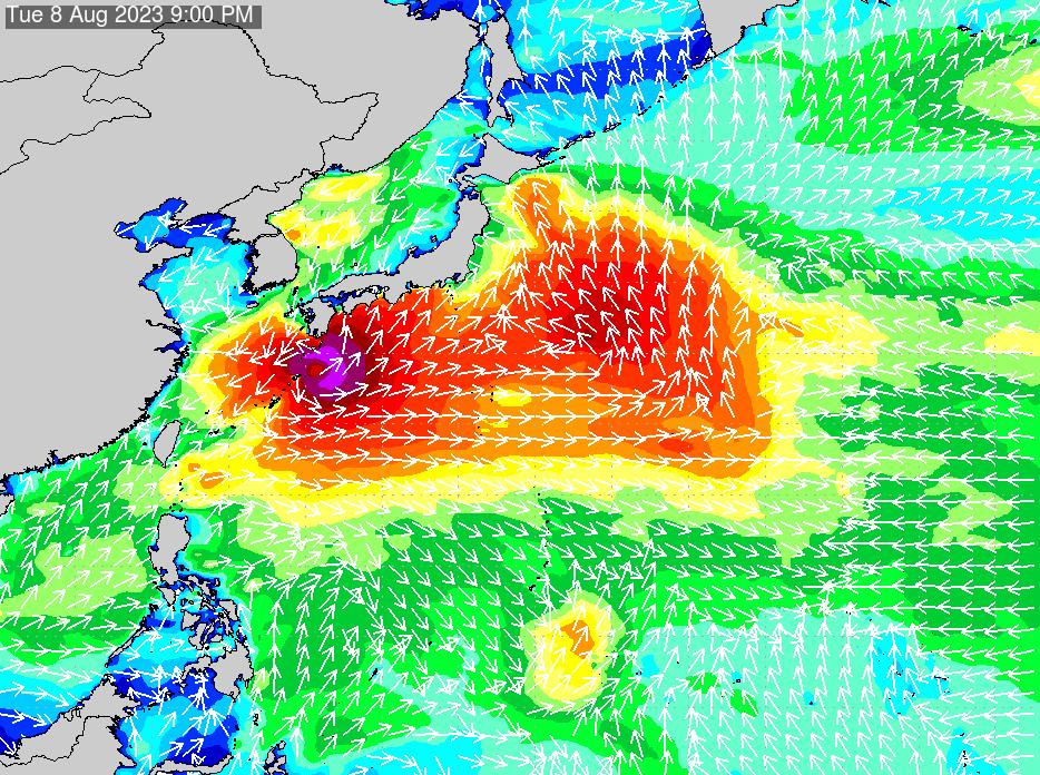 2018年7月20日(金)12:00の波浪画像