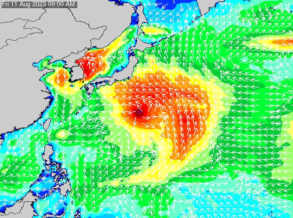2018年7月20日(金)18:00の波浪画像