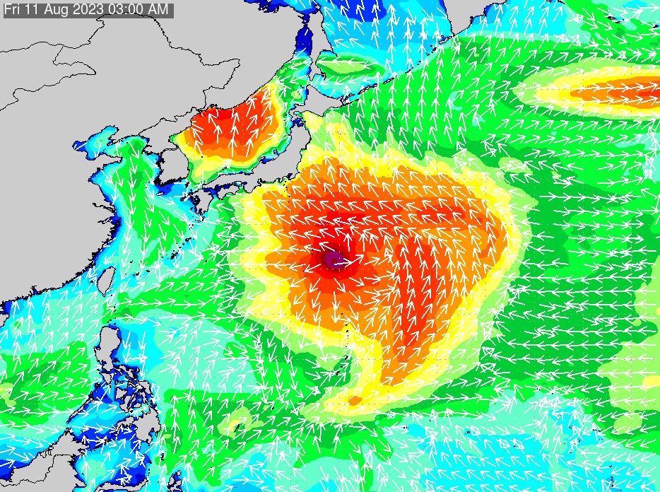 2017年3月1日(水)0:00の波浪画像