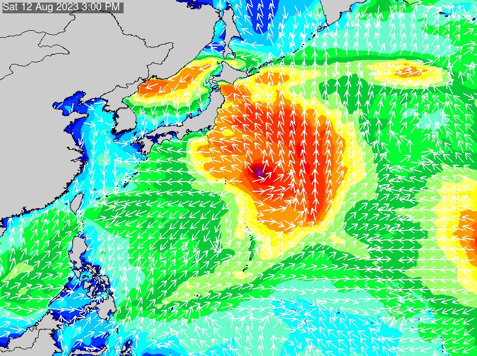 2018年7月21日(土)12:00の波浪画像