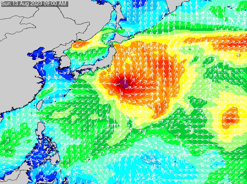 2018年11月23日(金)18:00の波浪画像