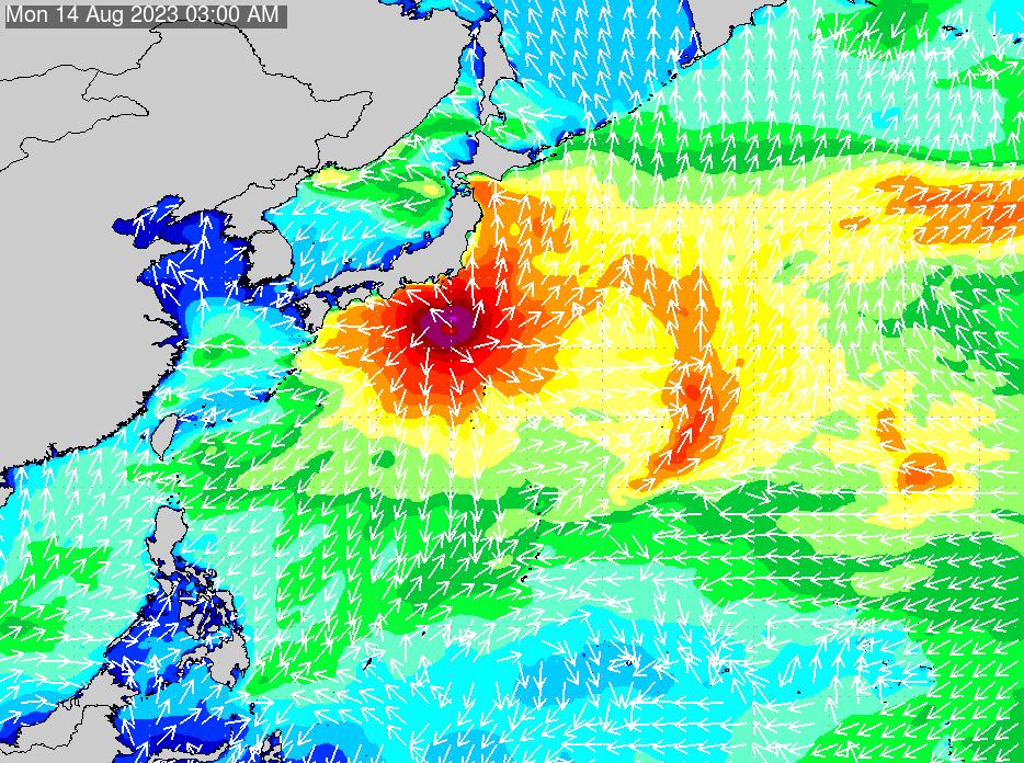 2018年7月22日(日)0:00の波浪画像