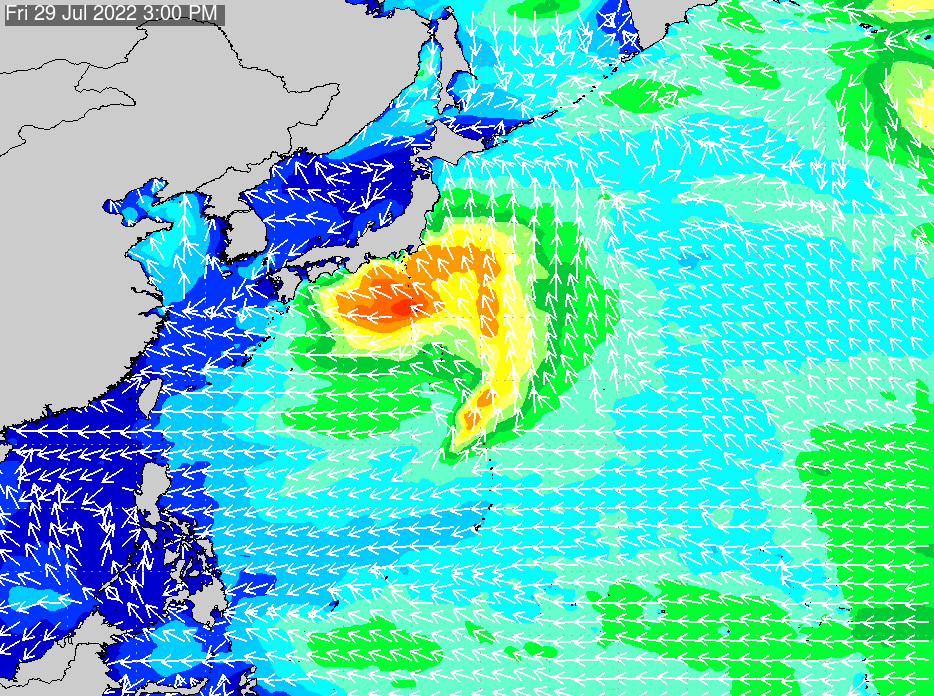 2017年3月2日(木)6:00の波浪画像