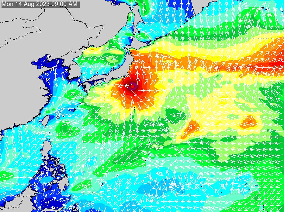 2017年3月2日(木)12:00の波浪画像