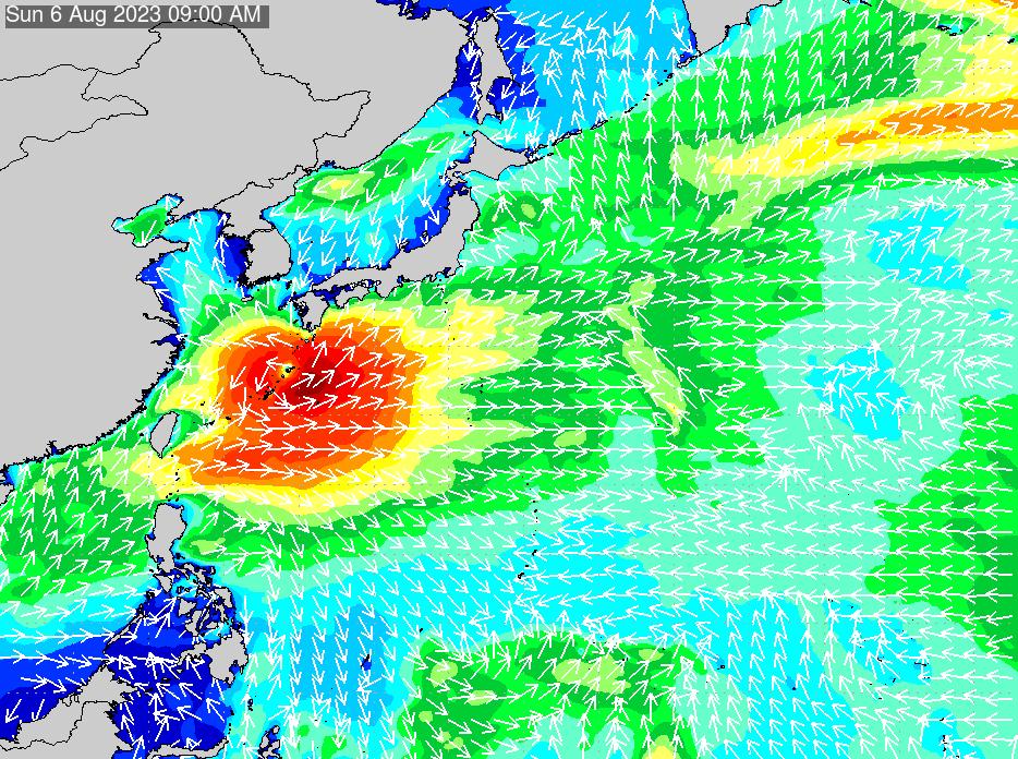 2018年11月14日(水)18:00の波浪画像