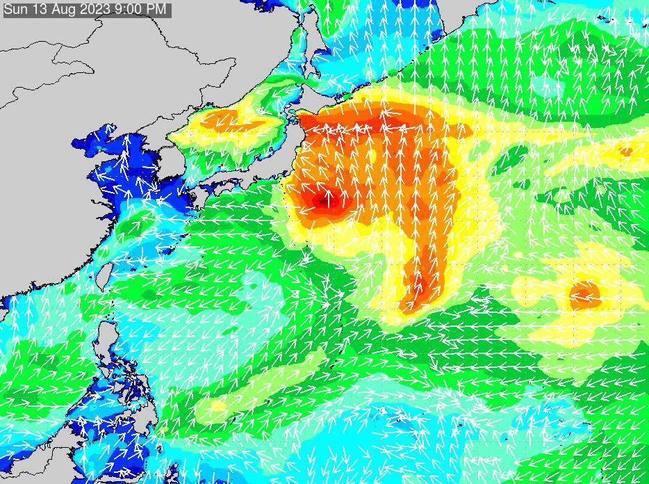 2017年3月2日(木)18:00の波浪画像