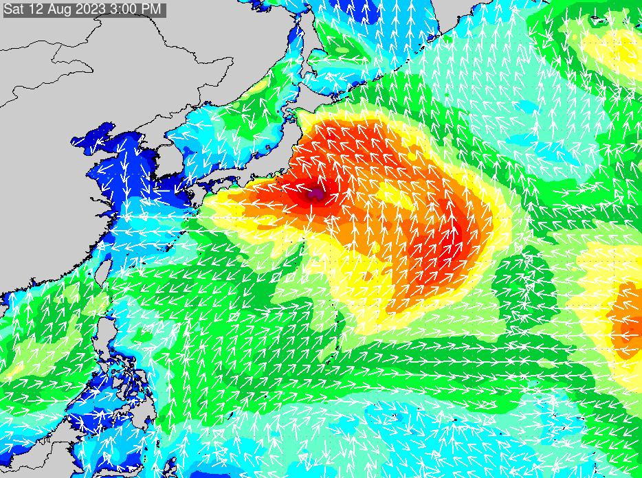 2018年7月23日(月)0:00の波浪画像