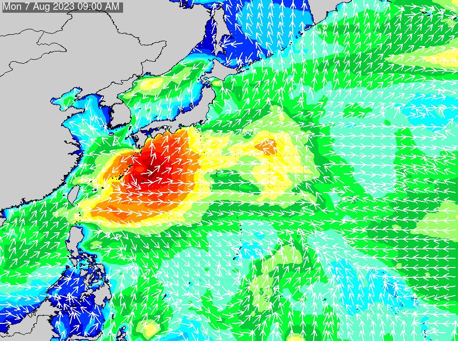 2018年7月16日(月)6:00の波浪画像