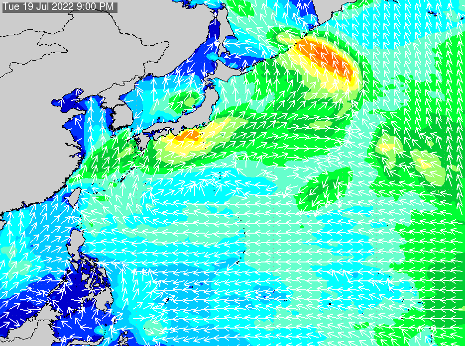 2017年9月22日(金)12:00の波浪画像