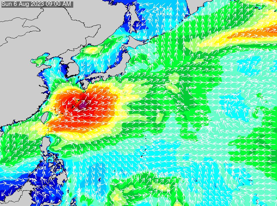 2017年9月22日(金)18:00の波浪画像