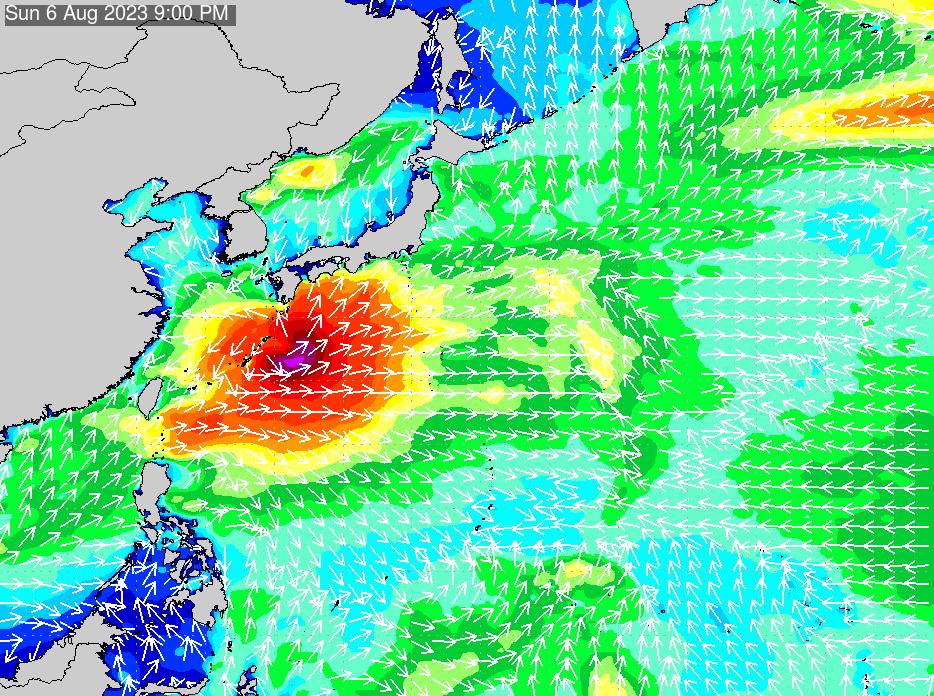 2018年7月17日(火)0:00の波浪画像