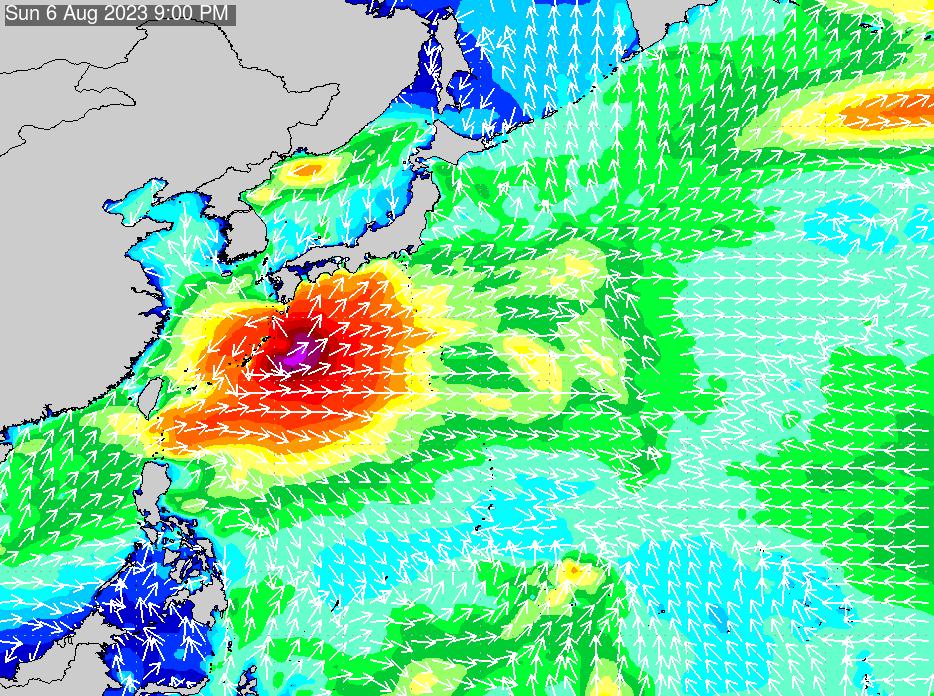 2018年7月17日(火)6:00の波浪画像