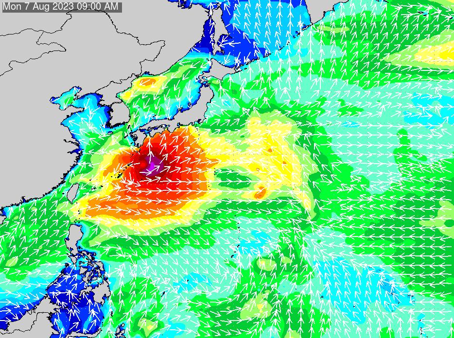 2018年7月17日(火)12:00の波浪画像