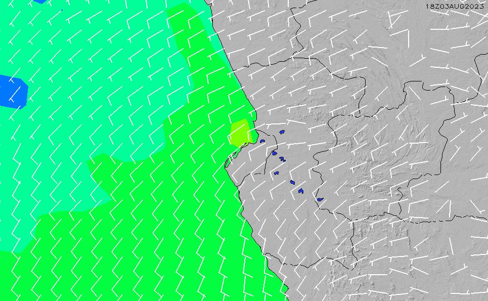 2021/5/9(日)7:00風速・風向