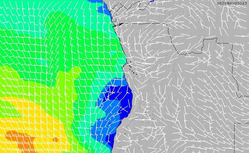 2020/9/21(月)7:00風速・風向