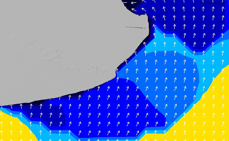 2020/7/6(月)21:00ポイントの波周期