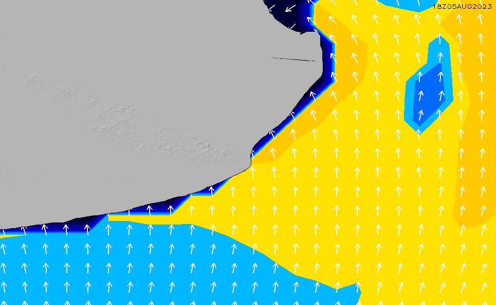 2021/5/17(月)21:00ポイントの波周期