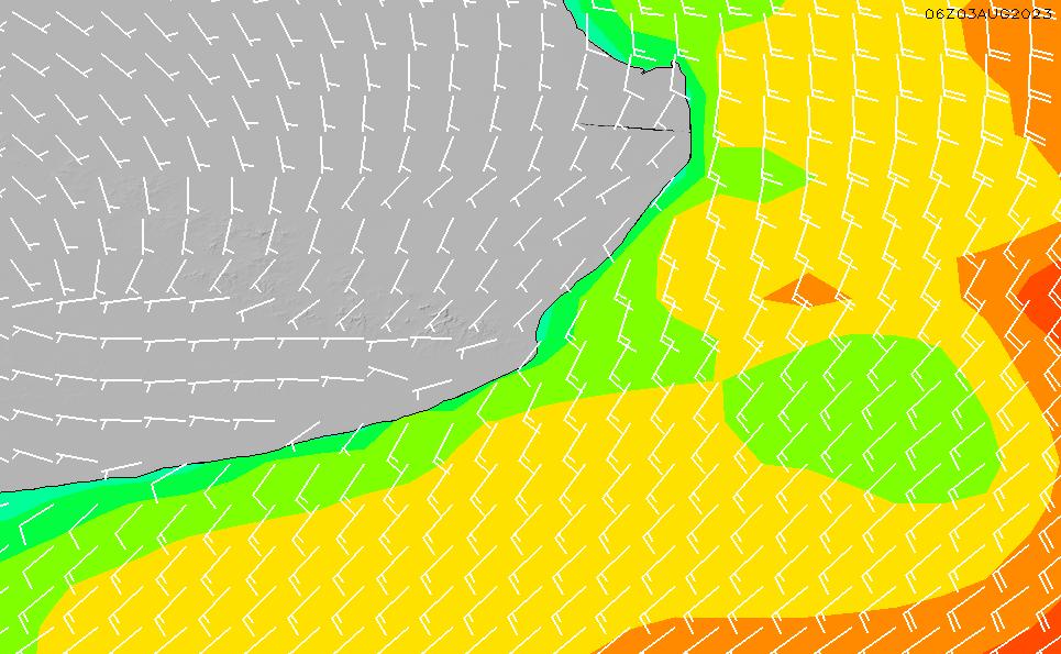2020/9/19(土)9:00風速・風向