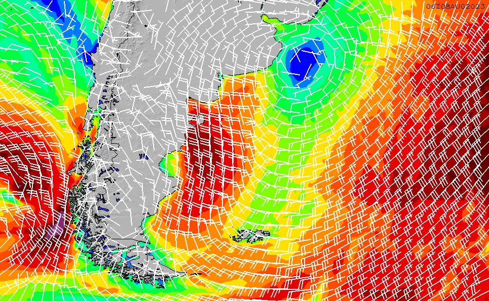 2020/7/6(月)21:00風速・風向