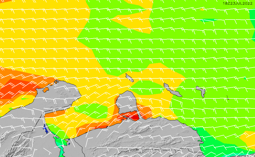 2021/9/29(水)10:00風速・風向