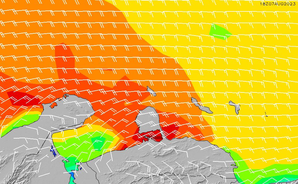 2021/4/12(月)16:00風速・風向