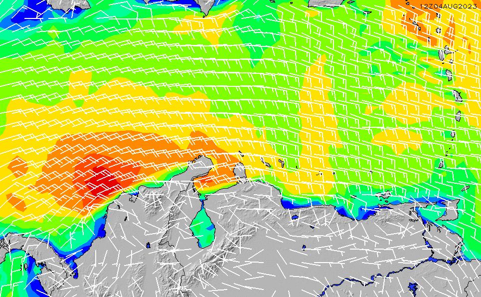 2020/9/20(日)22:00風速・風向