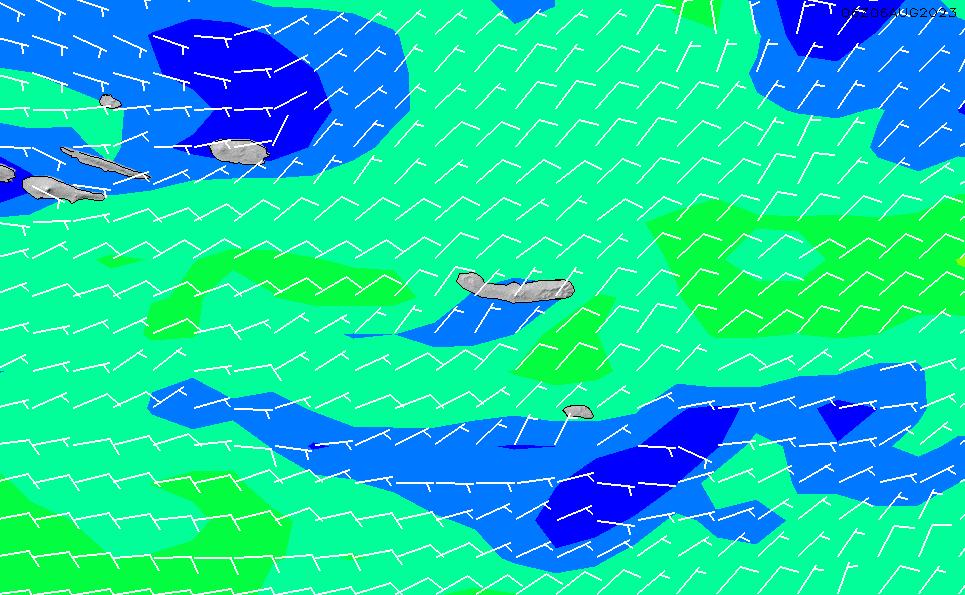 2021/2/28(日)1:00風速・風向