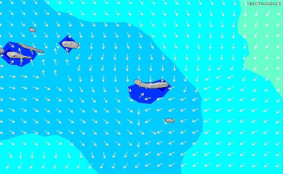 2020/8/5(水)0:00波高チャート