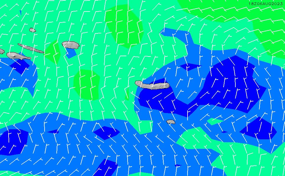 2020/7/8(水)12:00風速・風向