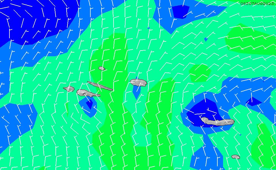 2020/8/14(金)18:00風速・風向