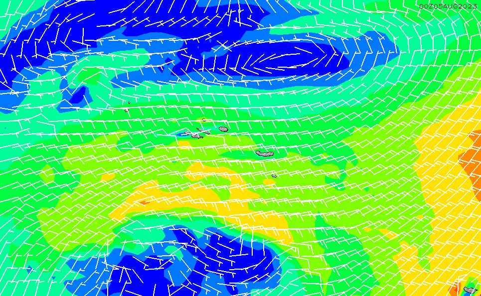 2021/3/6(土)1:00風速・風向