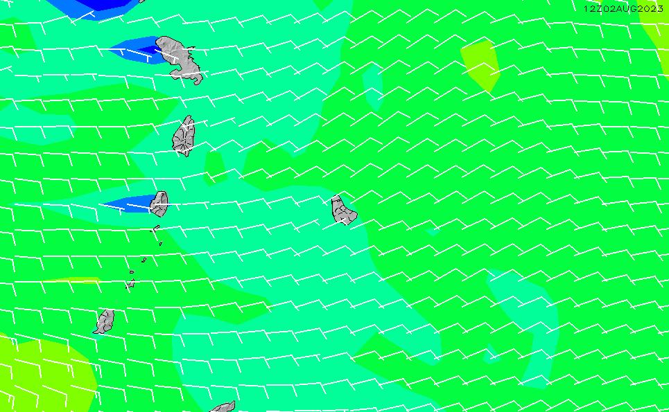 2021/5/12(水)22:00風速・風向
