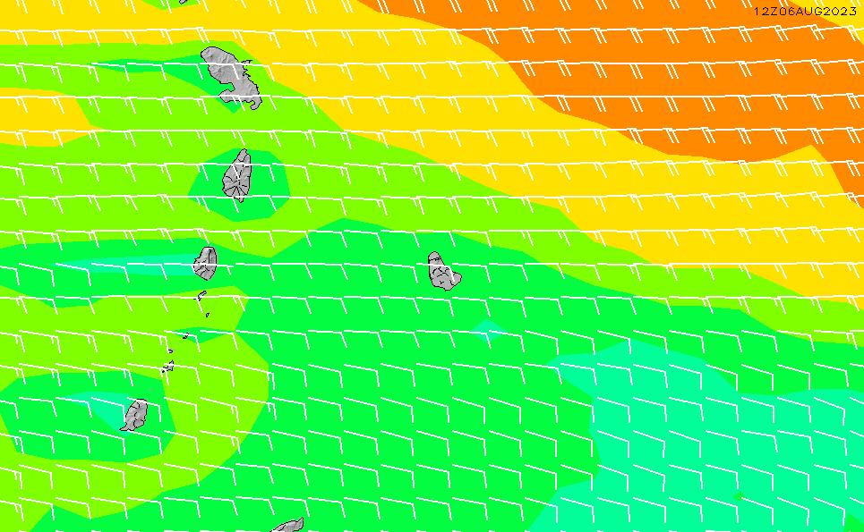 2021/3/2(火)22:00風速・風向