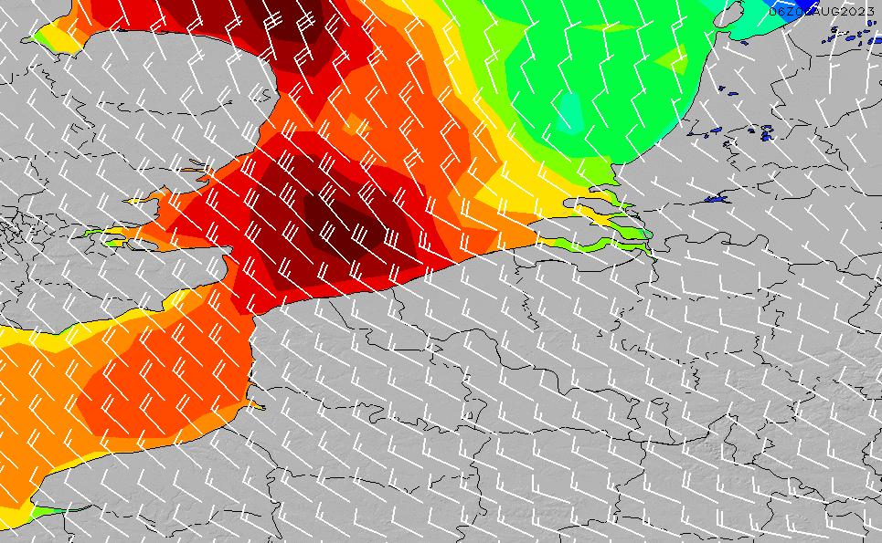 2021/3/1(月)1:00風速・風向