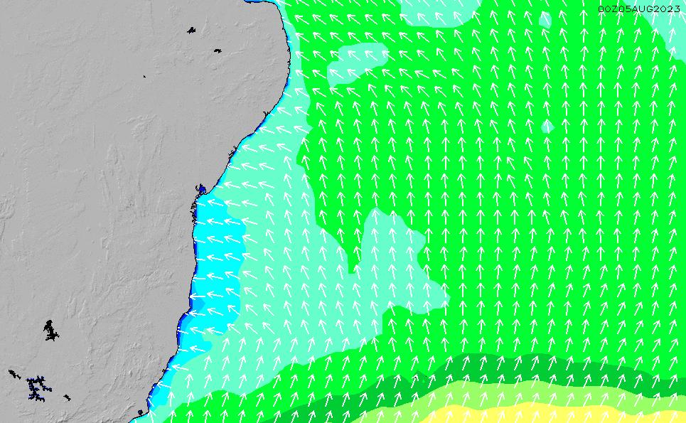 2020/9/30(水)21:00波高チャート